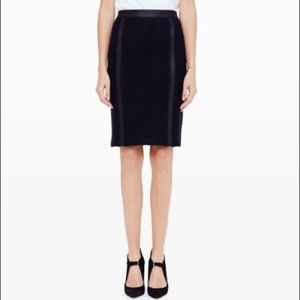 Club Monaco Black Azade Boude Pencil Skirt 8